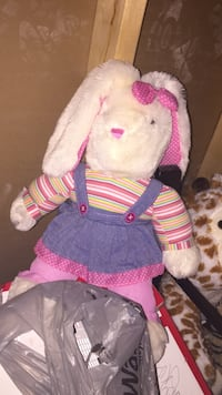 white and pink rabbit plush toy Odessa, K0H 2H0