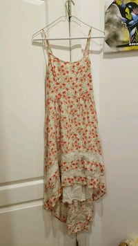 women's white and red floral spaghetti strap dress Brooklyn, 11205