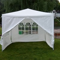 NEW 10' x 10' Outdoor Canopy Tent w/4 walls, fully enclosed Centreville