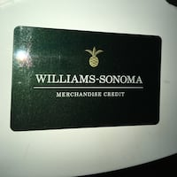 Williams sonoma gift card Toronto