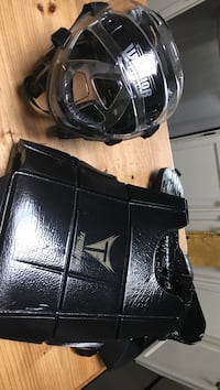 black Thunder leather shoulder pad and sports helmet Surrey, V4A 5M7