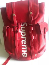 Red supreme backpack The Colony, 75056