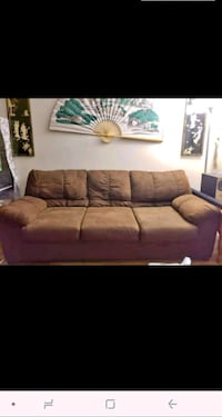 brown suede 3-seat sofa/couch  Springfield, 01108