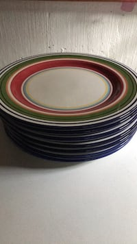 Potterybarn Espadrille gorgeous large dinner plates Mississauga, L5A 3B7
