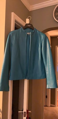 Teal leather jacket Rock Hill, 29732