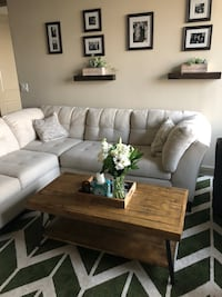 White sectional couch Charlotte