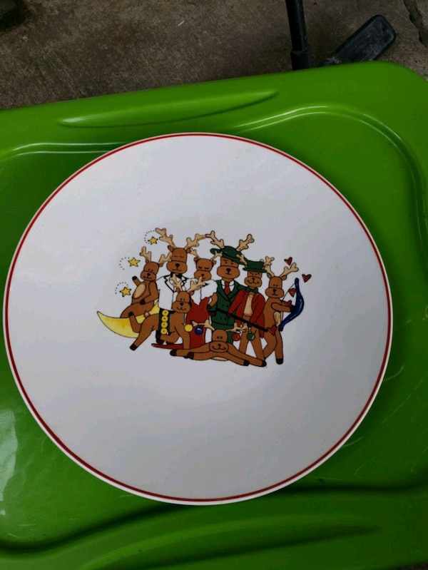 Ltd vintage Christmas plate decorations