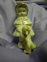 antique girl and dog figurine Akron, 44305