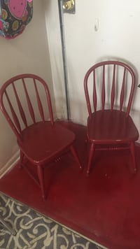 Two maroon Childrens chairs Pottery Barn Alexandria, 22306