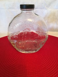 clear glass bowl with lid Frederick