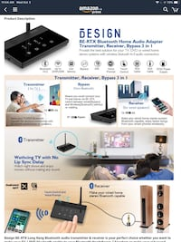 Bluetooth Transmitter/Receiver for home theatre system, speakers, streaming, audio and Netflix LONG RANGE Ottawa, K1C