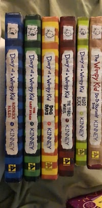 6 diary of a wimpy kid books Surrey, V4N 0W4