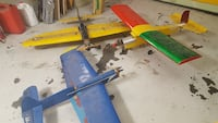 three toy airplanes
