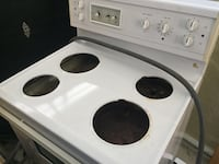 white and black 4-burner electric coil range oven Laval, H7R 4R9