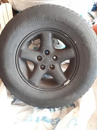 gray 5-spoke vehicle wheel and tire Mississauga, L5C 3A7