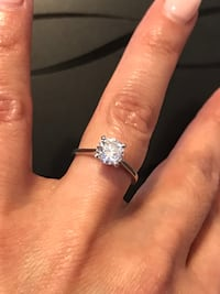 """""""Tiffany"""" Style Solitaire Diamond Engagement Ring. Tomball"""