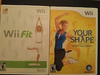 two Nintendo Wii Fit games: Wii Fit / Your Shape  Vaughan, L4L