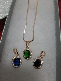 Sapphire Crystal in 18k Gold Plated Necklace Toronto, M5N 1S4