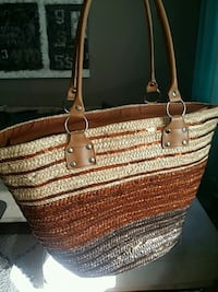 Large strawbag for sale. With ziplock Oslo, 0272