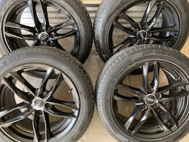 4 x 225/50/17 TIRES AND OEM FACTORY AUDI RIMS $$$$950