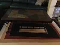 black and brown wooden coffee table Laval, H7G
