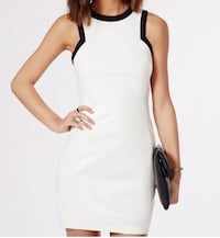 Missguided White Faux Leather Dress  Vaughan, L4J 9C1