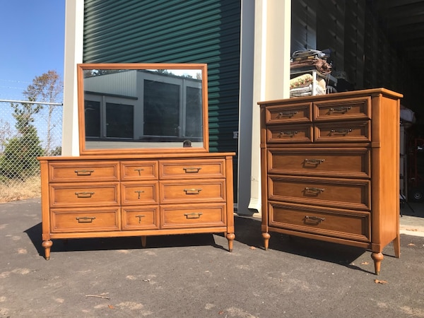 Used Solid Wood Dresser And Chest By White Furniture For In Holly Springs Letgo