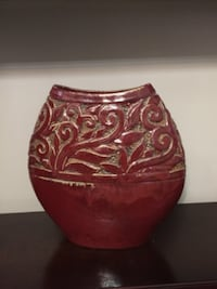 Red Vase from Bombay TORONTO