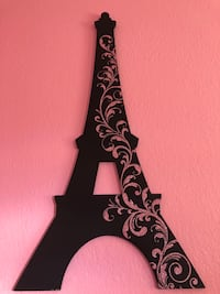 Like new Paris home decor!!! Both the Eiffel tower and the word Paris both for $35