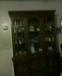 brown wooden framed glass display cabinet Orlando, 32812