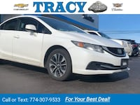 2013 Honda Civic Sdn EX sedan White