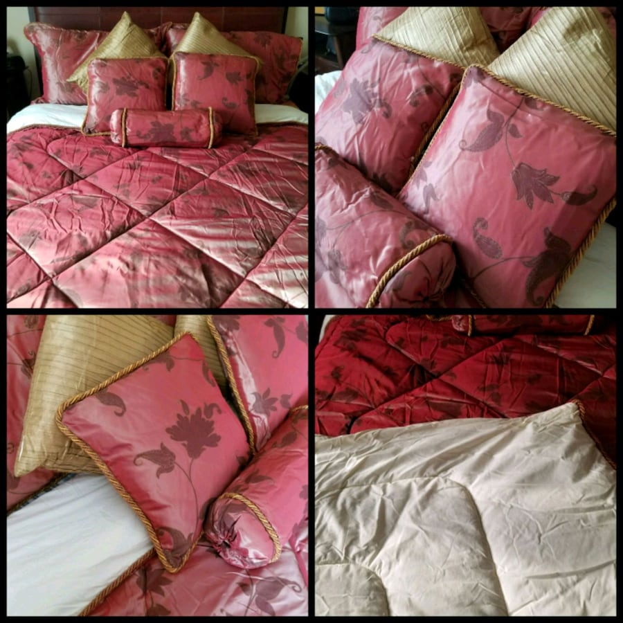 Bed cover + pillows!!