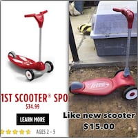red and gray Radio Flyer kick scooter Laredo, 78040