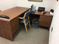brown wooden desk with black rolling armchair Chevy Chase, 20815
