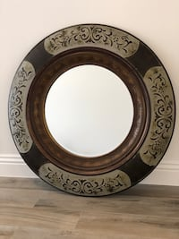 "Z Gallery 36"" Round Mirror. Brown and Gray. Huntington Beach, 92649"