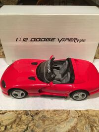 1:12 red dodge viper rt/10 scale model.  official pace car 75th indianapolis 500 may 26 1991