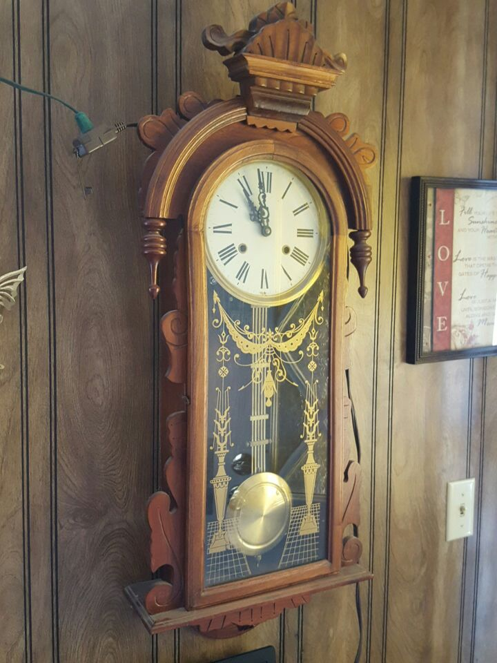 Letgo wall hanging type grandfather clock in laughlin nv - Wall hanging grandfather clock ...