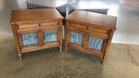 Wooden nightstand 18 1/2 inches deep, 27 inches wide, 25 inches tall  $100 (pair)