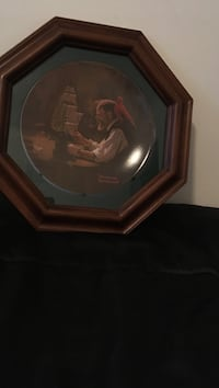 Norman rockwell plate mounted in octagonal frame Glen Cove, 11542
