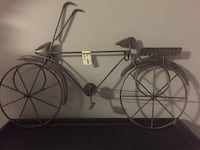 Metal Bicycle Wall Art / Bike pot holder wall hang New Westminster