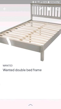 "WANTED DOUBLE BED FRAME  similar to photo  ""doesn't need box spring """