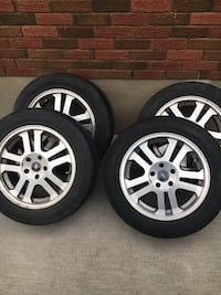 gray 5-spoke car wheel with tire set St. Catharines, L2M 2A2