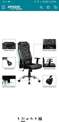black leather padded rolling armchair 381 mi