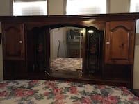 brown wooden cabinet with mirror Las Vegas, 89119