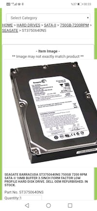 750GB HDD 7200rpm