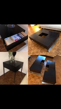 black wooden table with four chairs Côte-Saint-Luc, H4W 2Z1