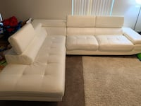 White leather sectional Portland, 97212