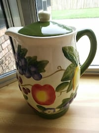 white, green, and pink floral ceramic pitcher Orange Park, 32073