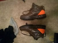 black-and-orange leather lace-up boots Randallstown, 21133