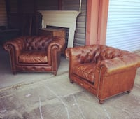 two brown leather sofa chairs Florence, 29501